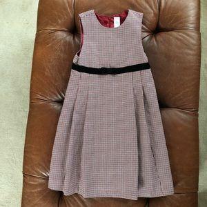 Gymboree Houndstooth Dress Velvet Bow 10